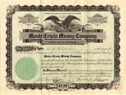 Monte Cristo Mining Company - Idaho 1931
