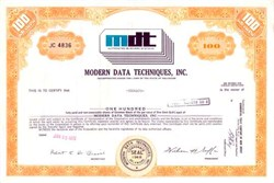 Modern Data Techniques, Inc. - Old Punch Card Vignette