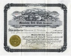 Mountain Dell Club - Salt Lake City, Utah - 1911
