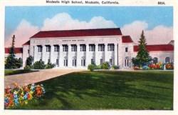 Modesto High School, Modesto, California Postcard