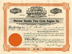 Morrow Double Two Cycle Engine Company - San Francisco, California 1907