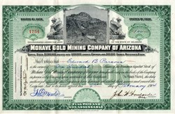 Mohave Gold Mining Company of California - 1904