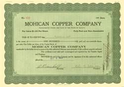 Mohican Copper Company 1918 - Plomosa District, Yuma County, Arizona
