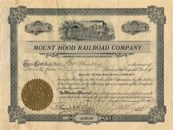 Mount Hood Railroad Company - Utah 1903