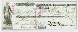 Mohawk Valley Bank Check in 1848 signed by Francis E. Spinner (Treasurer of the United States during Civil War)