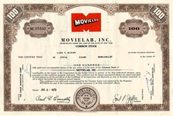 Movielab, Inc. - New York 1970