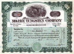 Mojave Tungsten Company 1917 - San Bernardino, Califonnia