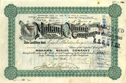 Mohawk Mining Company (Rare very few known according to Lee Degood's book) - Keweenaw Peninsula, Michigan 1907