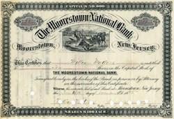 Moorestown National Bank - New Jersey 1885 - Harvester Vignette