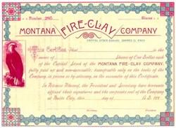 Montana Fire Clay Company 1880's