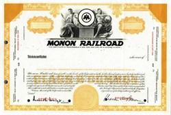 Monon Railroad Specimen Stock Certificate - Indiana