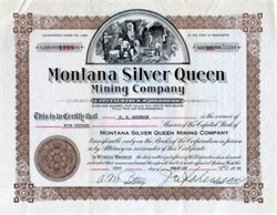 Montana Silver Queen Mining Company - Washington State