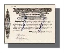 Montevideo Telephone Company - Uruguay 1917