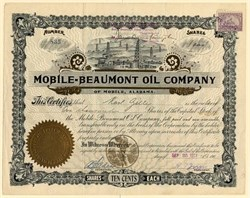 Mobile-Beaumont Oil Company - Mobile, Alabama 1901