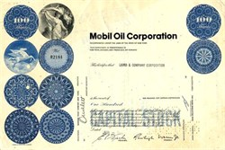 Mobil Oil Corporation - Pre Exxon Merger - New York