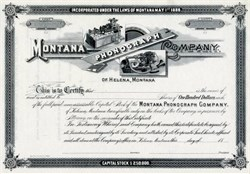 Montana Phonograph Company - Montana 1889