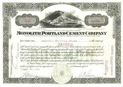 Monolith Portland Cement Company - Nevada 1937
