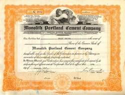 Monolith Portland Cement Company - Nevada 1923