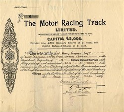 Motor Racing Track Limited - London, England 1909