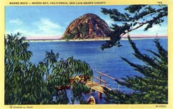 Morro Bay, California, San luis Obispo County Postcard
