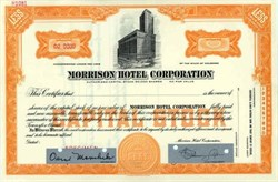 Morrison Hotel Corporation - Famous Chicago Hotel
