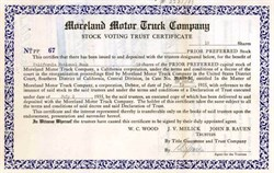 Moreland Motor Truck Company 1935 ( Fire and Hauling Truck Manufacturer )