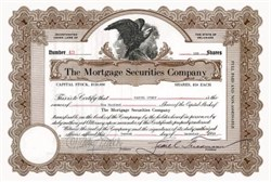 Mortgage Securities Company - December 1929