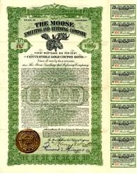 Moose Smelting and Refining Company - Convertible Gold Bond - Alma, Colorado, 1911