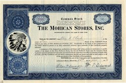 Mohican Stores, Inc. (Early Grocery Store Chain) - New York 1936