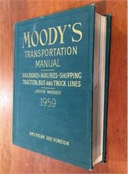 Moody's Transportation Manual - 1959