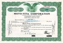 Moto - Vita Corporation 1931