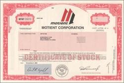 Motient Corporation - Satellite / Terrestrial Communications ( Was American Mobile Satellite )