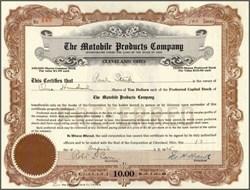Motobile Products Company 1925 - Ohio
