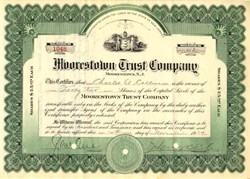 Moorestown Trust Company - New Jersey 1929