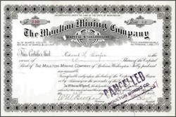 Moulton Mining Company 1905 - Washington State