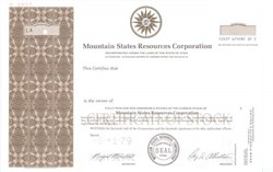 Mountain States Resources Corporation ( Became Micro-Media Solutions )