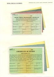 Motor Vehicle Registration Specimen Documents