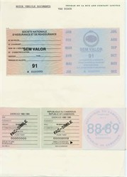 Motor Vehicle Specimen Documents - Cameroon