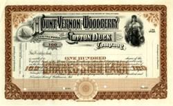 Mount Vernon Woodberry Cotton Duck Company 1890s