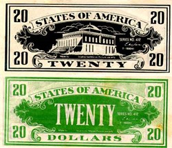 Movie Prop Money - Twenty Dollars