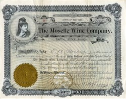 Moselle Wine Company - New York 1896