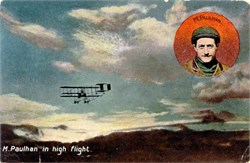 M. Paulhan in High Flight - Early Bi Plane