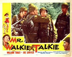 Mr. Walkie Talkie Lobby Card Starring William Tracy and Joe Sawyer
