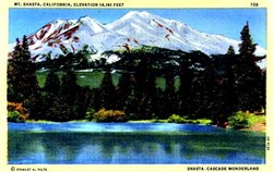 Mt. Shasta, California Postcard