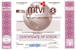 MTVi Group, Inc. (Certificate was for IPO that never happened) - MTV