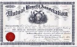 Mutual Benefit Association of New York (Class A) - New York 1878