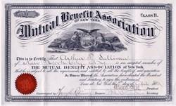 Mutual Benefit Association of New York (Class B) - New York 1880