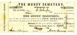 Muncy Cemetery  -  Muncy, Lycoming County, Pennsylvania1860