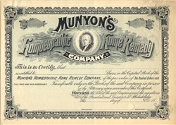 Munyon's Homoeopathic Home Remedy Company - Pennsylvania 1880's