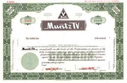 "Muntz TV - Founded by the Famous Earl ""Madman"" Muntz (inventor of the 4 track tape player system)"